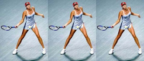 sharapova clones in the desert