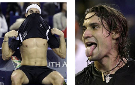 david ferrer - shirtless