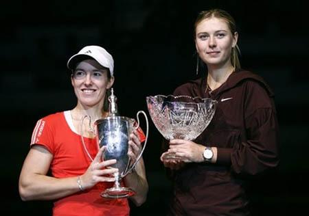 maria sharapova and henin - yec 2007
