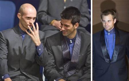 Davydenko, Djokovic, and Roddick - Tennis Masters Series 2007