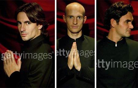 Tommy Robredo, Nikolay Davydenko, Roger Federer