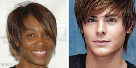 venus williams - zac efron
