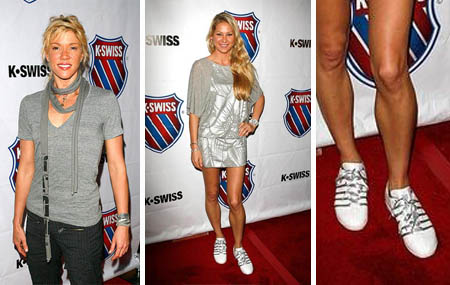 Jackie Warner - Anna Kournikova - K-Swiss pop-up store party