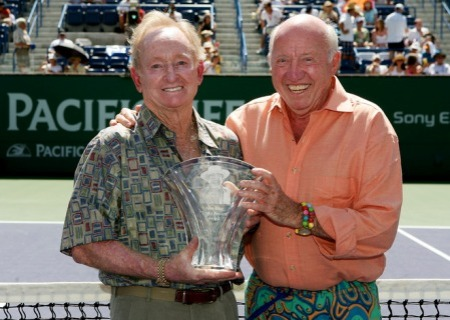 Rod Laver - Bud Collins - Indian Wells 2008