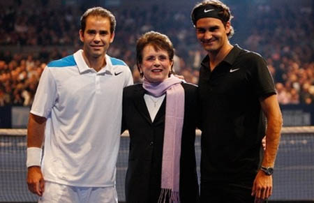 Pete Sampras, Roger Federer, Billie Jean King