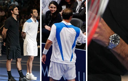 Roger Federer, Pete Sampras, both in Nike