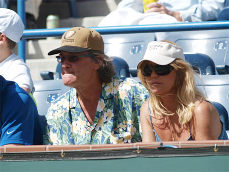 Kurt Russell - Goldie Hawn - Indian Wells 2008