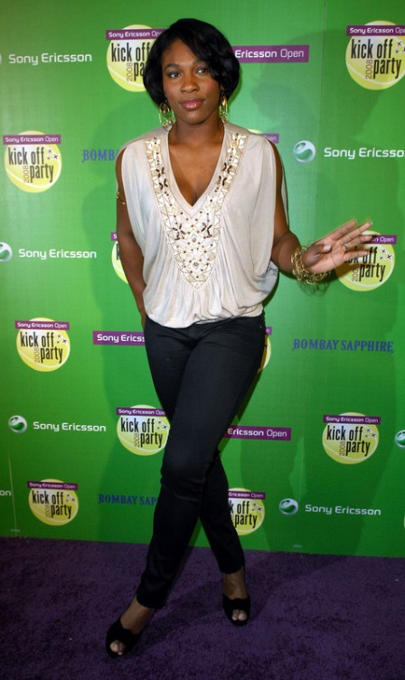 Serena Williams - Sony Ericsson Kick-offparty