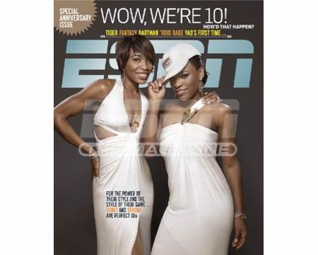 Venus and Serena - Area - ESPN the magazine - cover