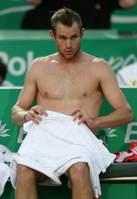 andy roddick shirtless. Andy Roddick is now in the