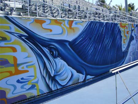 embellish the side walls with iconic Florida fish like wahoo and marlin,