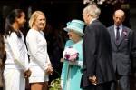 Anne Keothavong - Elena Baltacha - Queen Elizabeth II - Wimbledon 2010