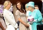 Queen Elizabeth II - Jelena Jankovic - Caroline Wozniacki - Wimbledon 2010