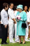 Billie Jean King - Laura Robson - Queen Elizabeth II - Wimbledon 2010