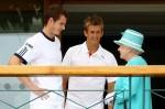 Queen Elizabeth II - Andy Murray - Jarkko Nieminen - Wimbledon 2010