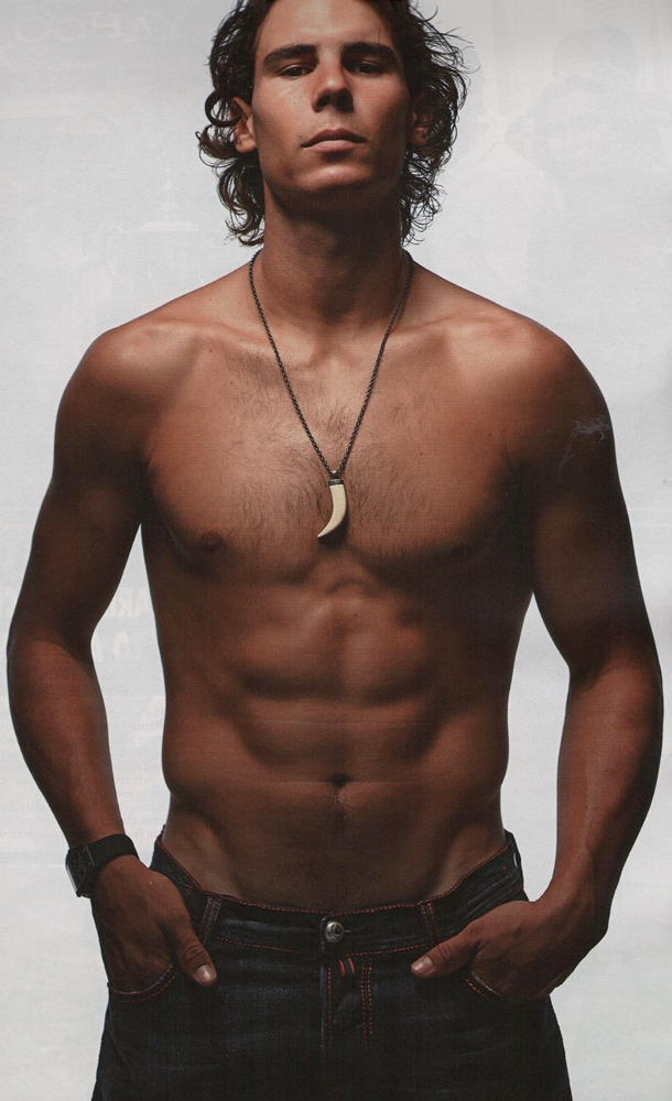 Rafael Nadal Shirtless. this pic of Rafa Nadal,