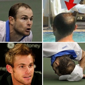 andy roddick hair. The Almost-Bald Andy Roddick:
