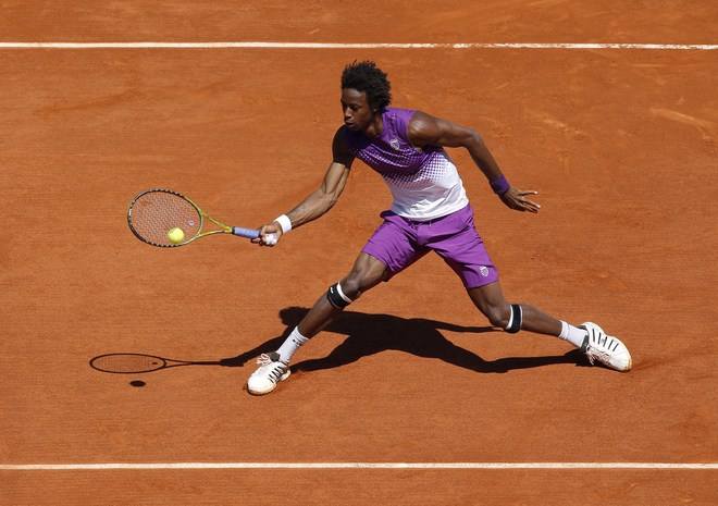 gael monfils shirtless. seed Gael Monfils booked a
