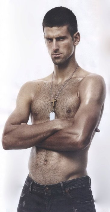 dmitry medvedev shirtless. shirtless: novak djokovic